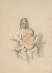 Maphoon, The Hirsute faced Woman of Ava, and her child
